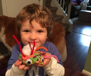 Try #19 on our list. For extra fun and motor skills practice, add pipe cleaners and googly eyes and let loose! Photo courtesy of C. Mooney