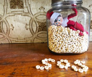 Elf on the shelf loves Cheerios and spelling