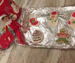 Elf on the Shelf loves to bake and eat cookies