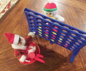 Elf on the Shelf gets a jump on family game night