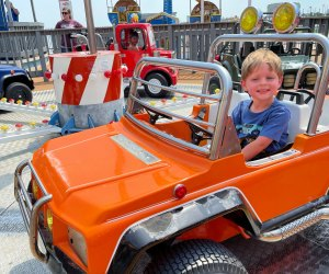 Kiddie ride at Pleasure Pier Galveston Texas