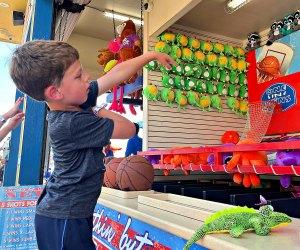 Carnival games at Pleasure Pier Galveston Texas