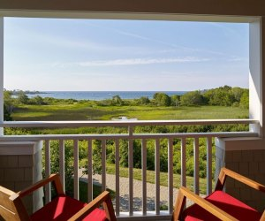 View of the ocean from The Inn By the Sea in Cape Elizabeth, Maine