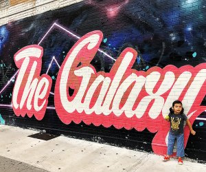 Head to Corona, Queens to snap some pics at the Galaxy mural. Photo by Janet Bloom