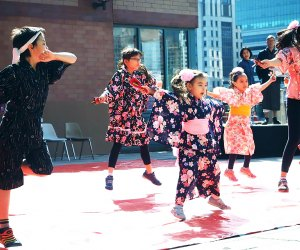 At Four Freedoms State Park on Roosevelt Island, the Cherry Blossom Festival features traditional and modern Japanese cultural performances. Photo courtesy of Roosevelt Island