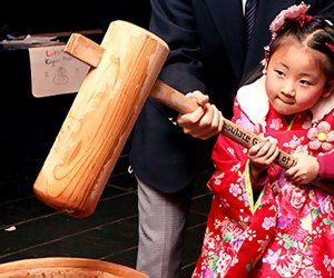 Try your hand at top spinning (koma-mawashi) at the Oshogatsu Festival at the Japan Society. Photo courtesy of the society
