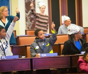 Learn how government works at the Kid Convention. Photo courtesy of Edward M. Kennedy Institute