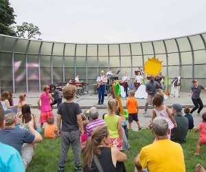 """Join Quintette 7 for a kids' concert and """"instrument petting zoo"""" at West Point's Trophy Point Amphitheater. Photo courtesy of the West Point Band"""