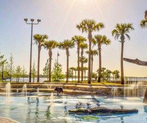 Kissimmee Lakefront Park splash pad.