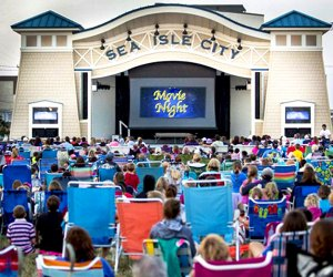 Catch a free family film at Sea Isle City's Movies Under the Stars on Friday nights in Excursion Park. Photo courtesy of the venue
