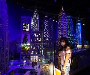Girls exploring Miniland at Legoland Discovery Center
