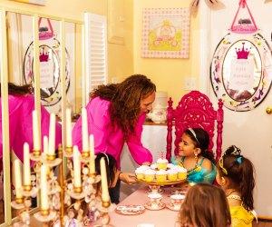 Girl celebrates birthday at Let's Dress Up nyc birthdays
