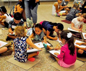 Introduce your kids to art through hands-on activities at Heckscher Museum of Art. Photo courtesy of the museum.