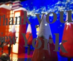 Macy's holiday windows say thank you