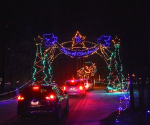 See holiday lights from the safety of your own car at Jones Beach's Magic of Lights