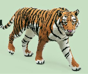 The Art of the Brick Is Back at the Science Center: Malayan Tiger