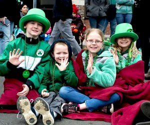 The annual Sound Shore St. Patrick's Day Parade marches through Mamaroneck on Sunday.