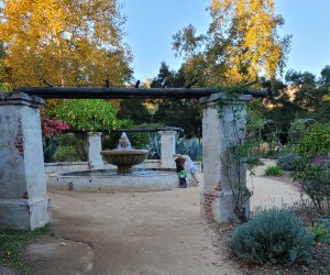 This Mission Fountain entrances kids of all ages at Descanso Gardens.