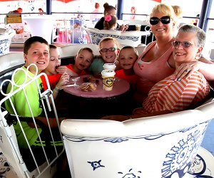 Have a Mother's Day tea party on the Tea Cups ride at Morey's Piers. Photo courtesy of Morey's Piers