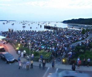 Enjoy a movie on the harbor in Port Jefferson. Photo courtesy of the Village of Port Jefferson