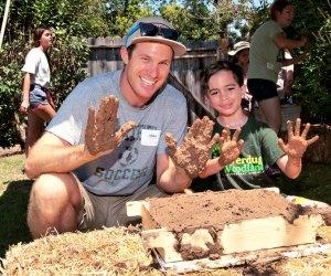 Mud Mania! Photo courtesy of Rancho Los Cerritos
