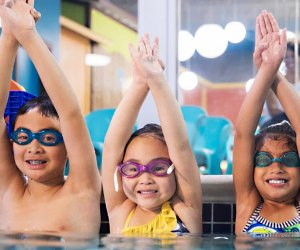 The new Goldfish Swim School in Yorktown Heights will host an opening house with FREE family swimming. Photo courtesy of the school