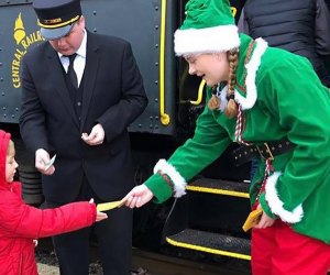 Get into the Christmas spirit with a ride aboard the North Pole Express. Photo courtesy of Black River & Western Railroad