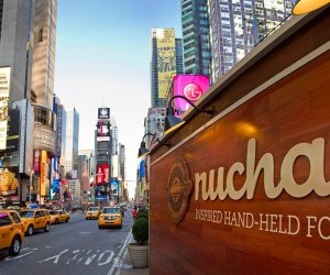 Nuchas food cart in Times Square