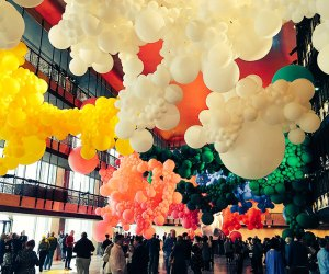 Jihan Zencirli Geronimo balloon installation at Lincoln Center. Photo courtesy of  New York City Ballet