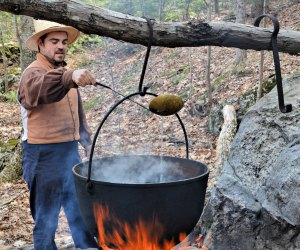 See how sugaring is done the old-fashioned way at Maple Days. Photo courtesy of Old Sturbridge Village