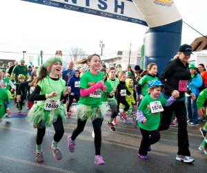 O'Niantic's Wee Mile is where little leprechauns get to join the race. Photo courtesy of Hartford Marathon Foundation
