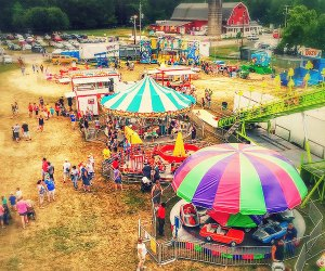 Rides, a tractor pull, livestock competition, and more are part of the fun at the Otisville Country Fair. Photo courtesy of the fair