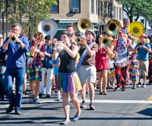 Make your own kind of music at SomerStreets: Strike up the Band! Photo by Tom Hazeltine