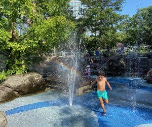 The Water Lab is one of Brooklyn Bridge Park's fabulous playgrounds