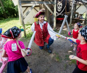 Kids can fight pirates and learn about Colonial America in Pirate Quest. Photo courtesy of Historic Hudson Valley