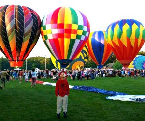 Kids will be wowed by the inflatables at Plainville's annual hot air balloon fest. Photo courtesy of the Plainville Fire Company