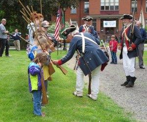 Memorial Day weekend begins with a bang at the Webb-Deane-Stevens Museum Revolutionary War Encampment. Photo Courtesy of Webb-Dean-Stevens Museum