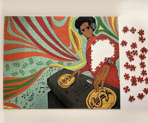 These gorgeous puzzles by Puzzles of Color can grow with kids.