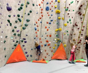 25 Things To Do with Kids on a Rainy Day in Boston: Rock climbing