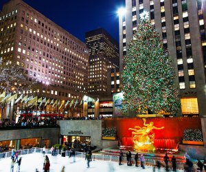 The most celebrated of Christmas trees, the Rockefeller Center Christmas Tree, is a classic New York City destination.  Photo by s.yume via Flickr