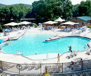 the pool complex at rocking Horse Ranch