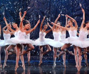 Snowflakes swirl in The Great Russian Nutcracker. Photo courtesy of the company