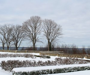 Explore the Sands Point Preserve's snowy grounds over February break