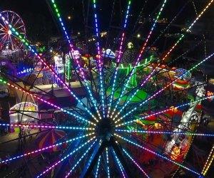 The Fair at Santa Anita Park at night