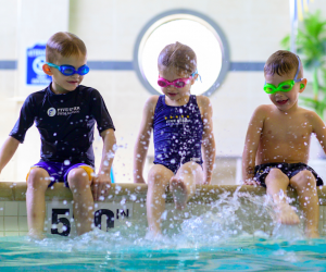 Five Star Swim School provides swim lessons to students of all ages and skill levels. Photo courtesy of Five Star Swim School.