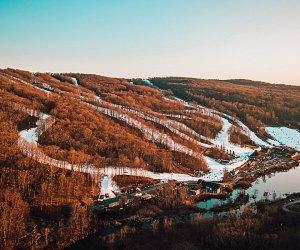 Aerial shot of Shawnee Mountain