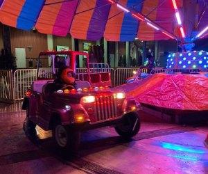 Enjoy the Winter Carnival rides at the Skylands Stadium Christmas Light Show