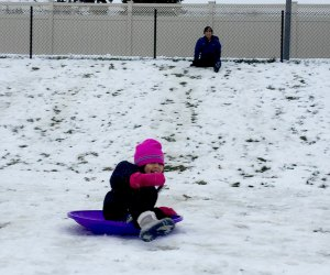 Chicago kids can't wait to go sledding, even when there's not much snow.