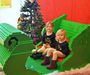 This amazing sleigh will be on display this weekend at Legoland. Photo courtesy of Legoland
