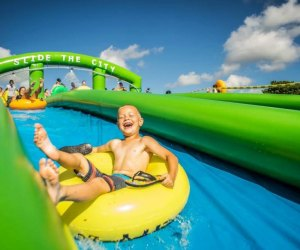 Slide the City comes to Goshen this weekend. Photo courtesy of the event